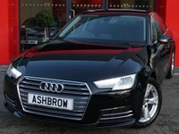 USED 2017 66 AUDI A4 1.4 TFSI SPORT 4d 150 S/S 1 OWNER FROM NEW, FULL SERVICE HISTORY, BALANCE OF AUDI WARRANTY, SAT NAV, AUDI SMART PHONE WITH APPLE CAR PLAY & ANDROID AUTO, FRONT & REAR PARKING SENSORS WITH DISPLAY, AUDI CONNECT, DAB RADIO, CRUISE CONTROL WITH SPEED LIMITER, LED DAYTIME RUNNING LIGHTS, BLUETOOTH PHONE & MUSIC STREAMING, SPORT SEATS, LEATHER MULTIFUNCTION STEERING WHEEL, LIGHT & RAIN SENSORS, AUDI DRIVE SELECT, KEYLESS START, WIFI, AUX INPUT, 2x USB PORTS, CD WITH 2x SD CARD READERS, TYRE PRESSURE MONITORING, 3 ZONE CLIMATE