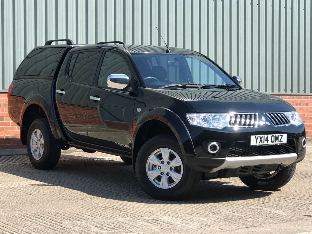 USED 2014 14 MITSUBISHI L200 2.5 DI-D 4X4 TROJAN DCB 175 BHP EXCELLENT LOW MILEAGE EXAMPLE