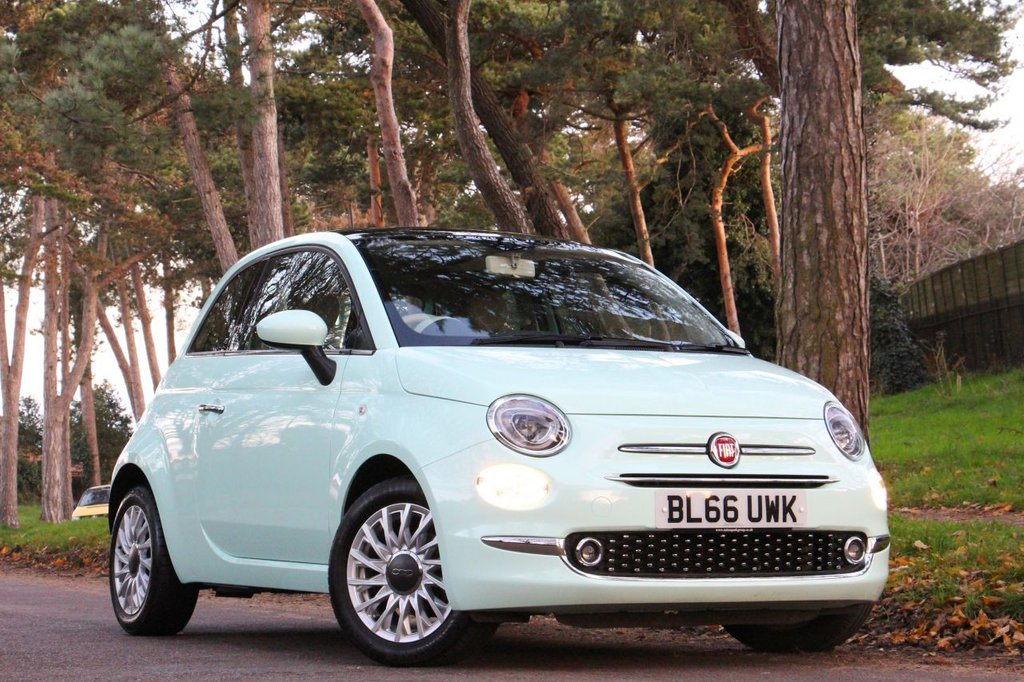 USED 2016 66 FIAT 500 1.2 LOUNGE 3d