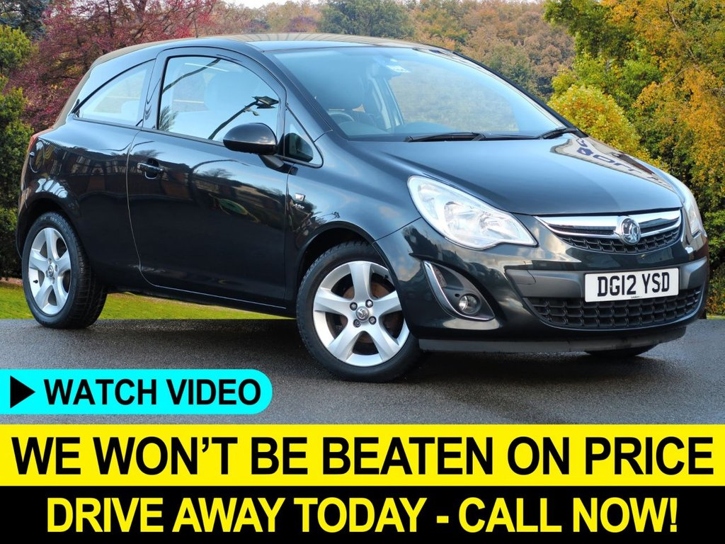 USED 2012 12 VAUXHALL CORSA 1.2 ACTIVE 16V 3DR BEST COLOUR LOW INSURANCE