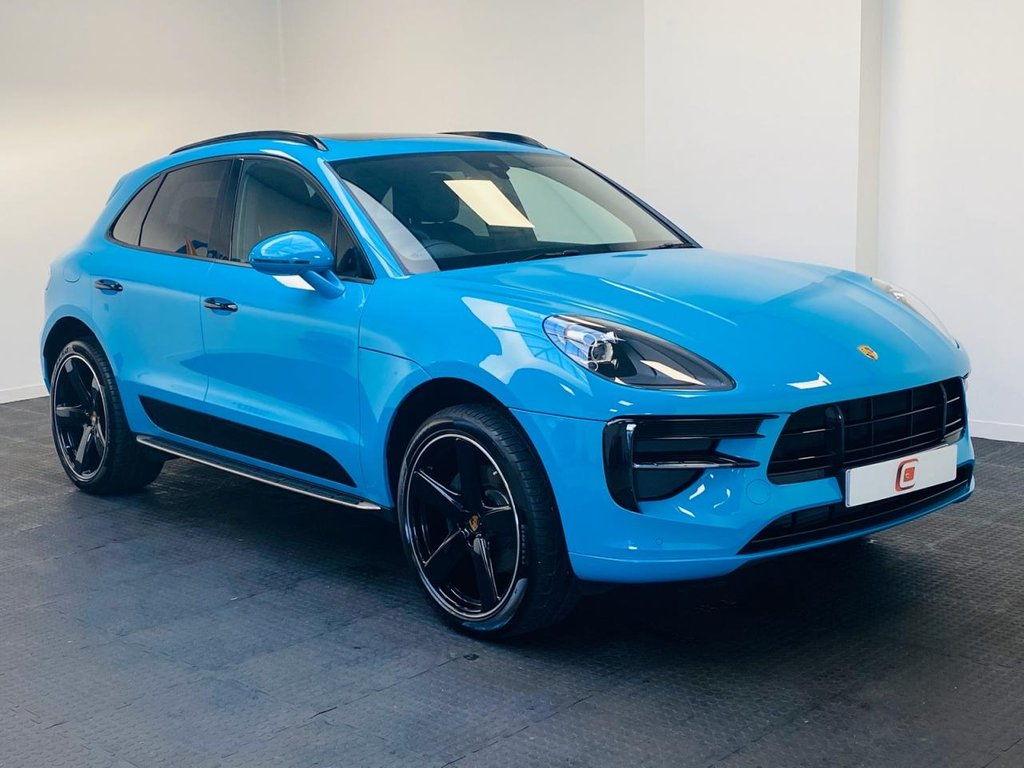 USED 2019 19 PORSCHE MACAN 2.0 PDK 5d 242 BHP MASSIVE SPEC SHEET + RARE MIAMI BLUE + PAN ROOF + PORSCHE WARRANTY PAN ROOF