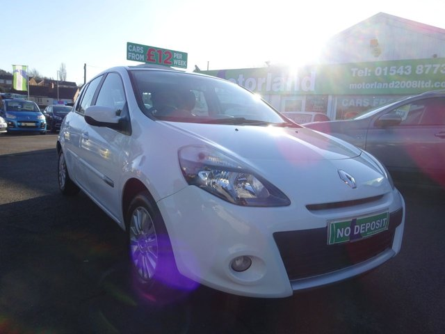 USED 2012 12 RENAULT CLIO 1.1 I-MUSIC 5d 75 BHP ** 01543 877320  ** JUST ARRIVED **