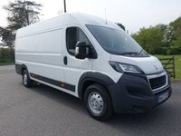 2017 PEUGEOT BOXER 435 PROFESSIONAL L4H2 EXTRA LWB HIGHTOP 2.0 BLUE HDI  130 BHP £13495.00