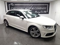 USED 2014 63 AUDI A3 1.6 TDI S LINE 5d 104 BHP + SAT NAV + 2 KEYS + HALF LEATHER