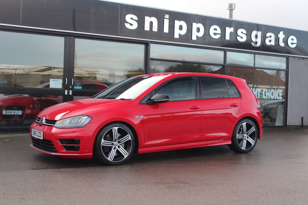 USED 2015 15 VOLKSWAGEN GOLF 2.0 R DSG 5d 298 BHP Fantastic ExampleTornado Red Golf R, 1 Owner Plus VW, Adaptive Cruise Control, Bluetooth Telephone Connection, Infotainment System, Bi-Xenon Headlights With LED Running Lights, Progressive Power Assisted Steering, DAB Digital Radio, Window Wind Deflectors, Two Zone Electric Climate Controlled, 2 Keys And Book Pack, Full VW Service History.