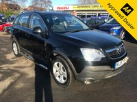 2007 VAUXHALL ANTARA 2.0 E CDTI 5d 150 BHP IN BLACK WITH FULL SERVICE HISTORY. 3 OWNERS WITH ONLY 74000 MILES.WITH ADDED SPEC £3499.00