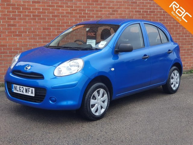 2012 62 NISSAN MICRA 1.2 VISIA 5d FULL NISSAN SERVICE HISTORY