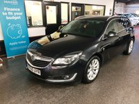 USED 2015 65 VAUXHALL INSIGNIA 2.0 ELITE NAV CDTI ECOFLEX S/S 5d 167 BHP Owned by one local company from new, Full service history- stamps & digital printout. January Mot but supplied with 12 months. Huge specification including Sat Nav, Bluetooth, heated leather seats & electric tailgate release. Finished in Metallic Carbon Flash with full Black leather seats.
