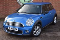 2011 MINI HATCH ONE 1.6 ONE PIMLICO 3d 97 BHP £4490.00