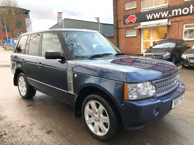 USED 2007 57 LAND ROVER RANGE ROVER 3.6 TDV8 VOGUE 5d 272 BHP EXCELLENT EXAMPLE WITH SERVICE HISTORY, PANORAMIC ROOF, ALLOY WHEELS, PARK SENSORS, HEATED LEATHER SEATS, RADIO/CD/AUX/USB, CRUISE CONTROL, CLIMATE CONTROL, SATELLITE NAVIGATION