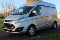 USED 2016 65 FORD TRANSIT CUSTOM 2.2 290 LIMITED LR P/V 124 BHP Long wheel base - Limited - High top - One owner - Full Ford History - + Complementary Warranty -