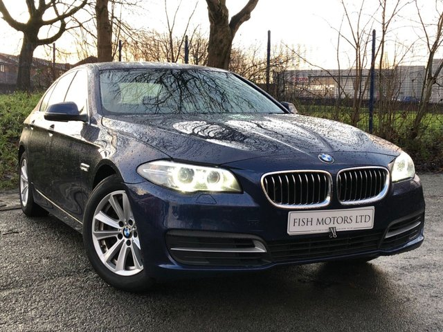 USED 2015 65 BMW 5 SERIES 2.0 518D SE 4d 148BHP 2KEYS+NAV+LEATHER+17ALLOYS+CLIMATE+PARKING+20ROADTAX+AUTOGEAR+