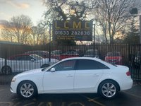USED 2011 11 AUDI A4 2.0 TDI TECHNIK 4d 134 BHP NEW MOT, LOVELY WHITE PAINT WORK, BROWN LEATHER, TECHNOLOGY PACK, SAT NAV, HEATED SEATS, FRONT AND REAR PARKING SENSORS, A/C, CRUISE CONTROL, CD PLAYER, ALLOYS, DRIVES WELL, NEW MOT ON PURCHASE