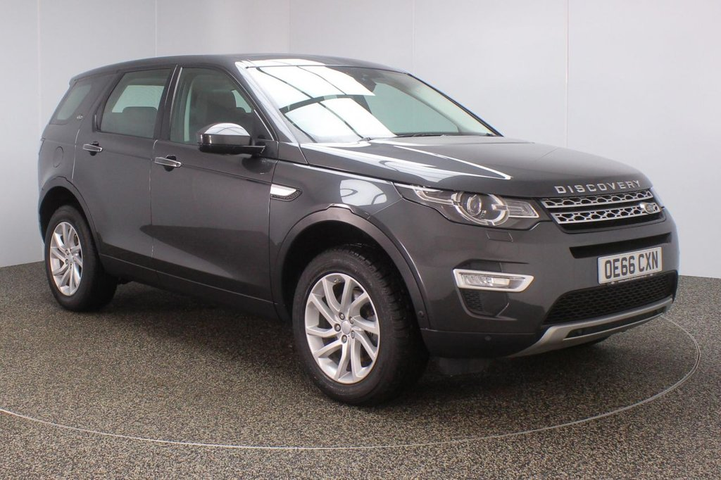 USED 2016 66 LAND ROVER DISCOVERY SPORT 2.0 TD4 HSE LUXURY 5DR AUTO 180 BHP 7 SEATS FULL LAND ROVER SERVICE HISTORY + FRONT/REAR HEATED LEATHER SEATS + 7 SEATS + PANORAMIC ROOF + SATELLITE NAVIGATION + REVERSE CAMERA + PARK ASSIST + PARKING SENSORS + BLUETOOTH + CRUISE CONTROL + HEATED STEERING WHEEL + XENON HEADLIGHTS + DAB RADIO + MERIDIAN PREMIUM SPEAKERS + ELECTRIC/MEMORY FRONT SEATS + LANE ASSIST SYSTEM +RADIO/CD/AUX/USB + ELECTRIC WINDOWS + ELECTRIC MIRRORS + 18 INCH ALLOY WHEELS