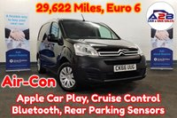 2016 CITROEN BERLINGO 1.6 Blue HDI ENTERPRISE Euro 6 in Black with 29622 Miles, Air Conditioning, Bluetooth, Cruise Control, Apple Car Play, Rear Parking Sensors, Ply Lined and more £6980.00