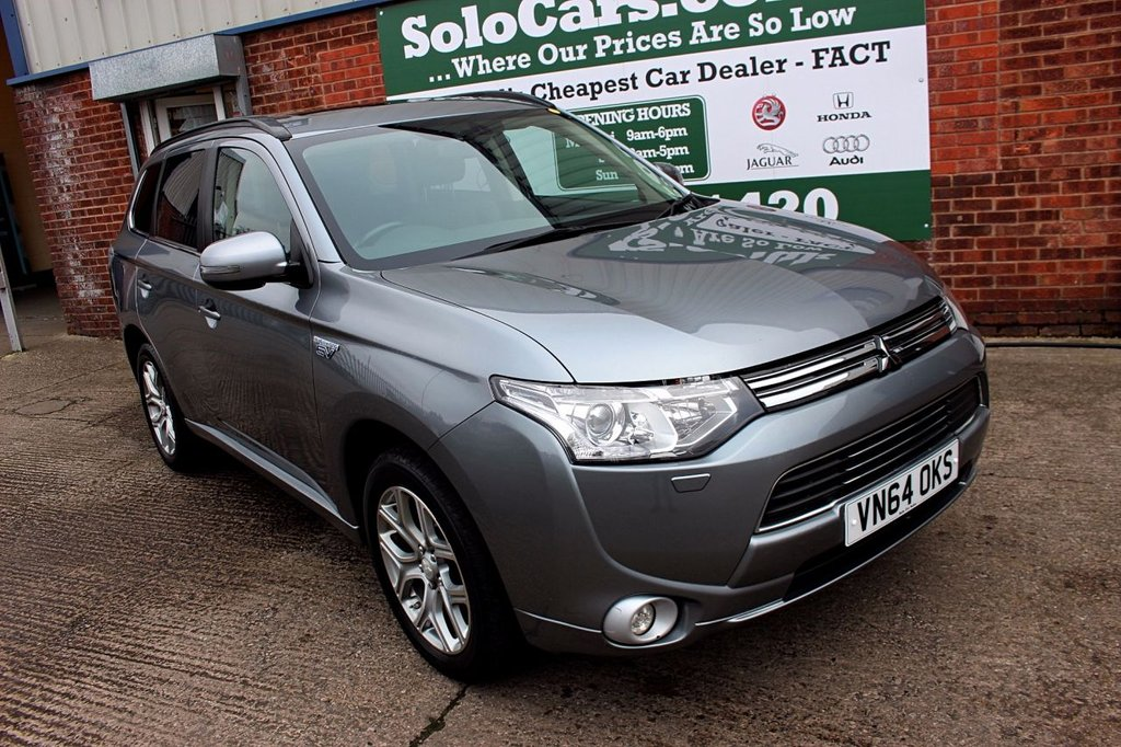 USED 2014 64 MITSUBISHI OUTLANDER 2.0 PHEV GX 4H 5d AUTO 162 BHP +ONE OWNER +LEATHER +6X FSH.