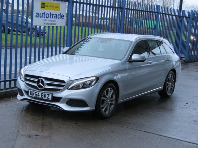 USED 2014 64 MERCEDES-BENZ C CLASS 2.0 C200 Sport Estate Sat nav Cruise Leather Rear camera DAB Full Leather,SatNav,Automatic with service history