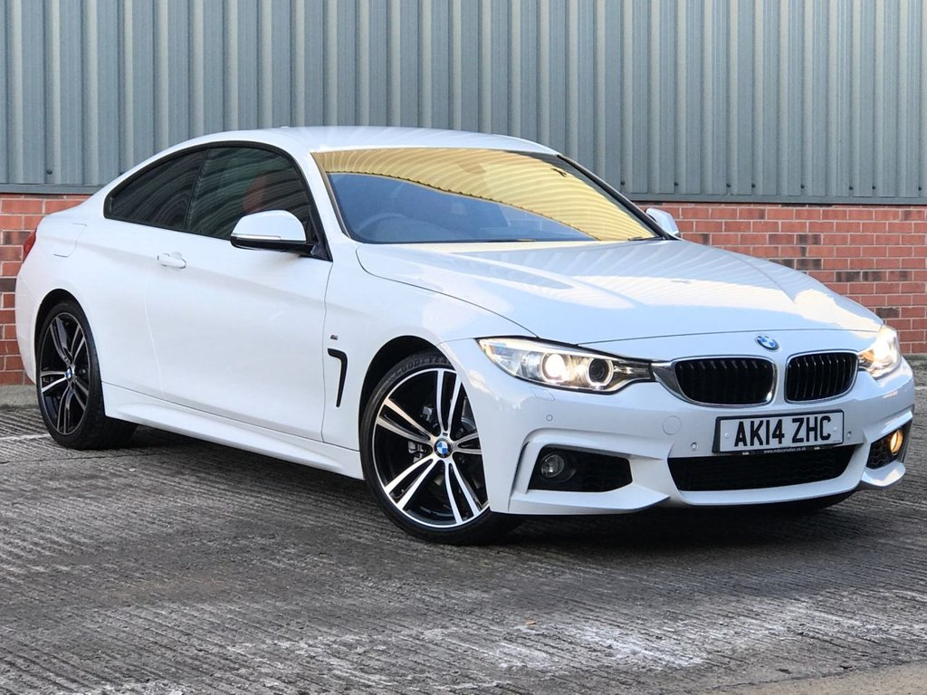 USED 2014 14 BMW 4 SERIES 2.0 420D M SPORT 2d 181 BHP EXCELLENT CONDITION AND FANTASTIC VALUE
