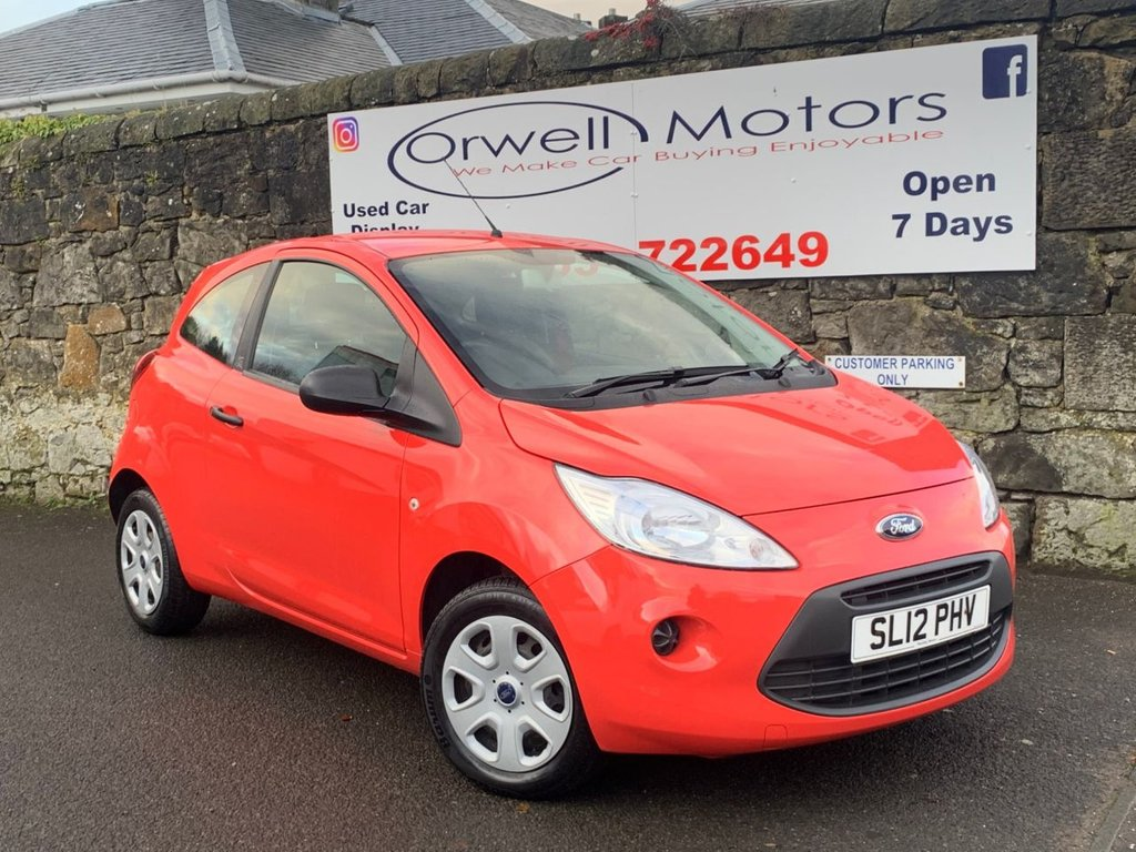 USED 2012 12 FORD KA 1.2 STUDIO 3d 69 BHP CAR FINANCE AVAILABLE+1 OWNER+FULL SERVICE HISTORY