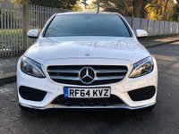 USED 2015 64 MERCEDES-BENZ C CLASS 2.1 C220d AMG Line (Premium) 7G-Tronic+ (s/s) 4dr PanRoof, Red Leather,Euro(6)