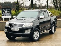 USED 2012 TOYOTA HI-LUX 3.0 INVINCIBLE 4X4 D-4D DCB 169 BHP FULL LEATHER, ROLLER COVER