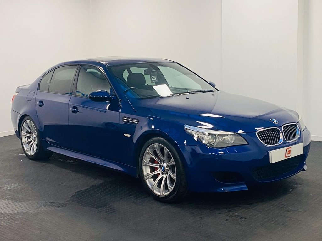 USED 2007 57 BMW M5 5.0 4d 501 BHP INTERLAGOS BLUE + REAR PRIVACY GLASS + BMW HISTORY + FINANCE AVAILABLE