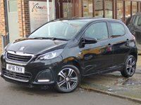 USED 2016 16 PEUGEOT 108 1.0 ACTIVE 5d 68 BHP LOW MILEAGE AUTOMATIC WITH FULL PEUGEOT SERVICE HISTORY & FREE TO TAX