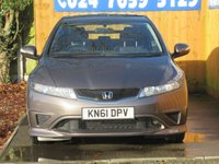 USED 2011 61 HONDA CIVIC 1.3 I-VTEC TYPE S I-SHIFT 3d 98 BHP FSH, AUTOMATIC, AUX INPUT