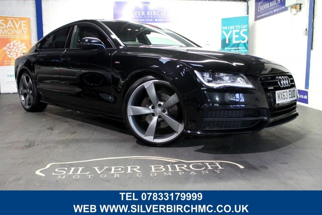 USED 2013 63 AUDI A7 3.0 TDI QUATTRO BLACK EDITION 5d 242 BHP Huge Spec, Finance Available