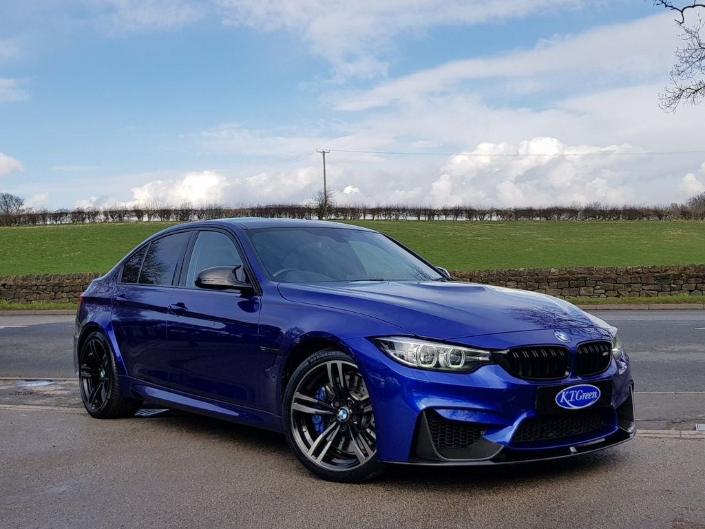 USED 2018 67 BMW M3 3.0 M3 DCT SAN MARINO BLUE, FULL BMW HISTORY - JUST STUNNING