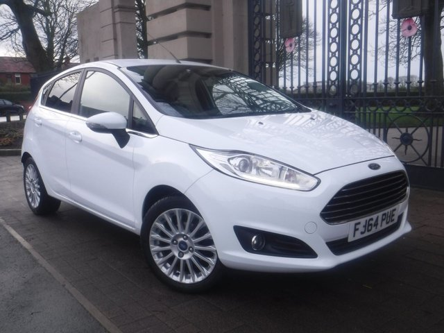 USED 2014 64 FORD FIESTA 1.5 TITANIUM TDCI 5d 74 BHP *** FINANCE & PART EXCHANGE WELCOME *** £ 0 FREE ROAD TAX FULL SERVICE HISTORY BLUETOOTH PHONE AIR/CON CRUISE CONTROL DAB RADIO CD AUX & USB