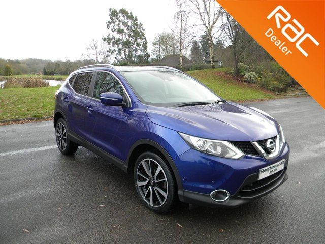 USED 2014 14 NISSAN QASHQAI 1.2 TEKNA DIG-T 5d 113 BHP Great Size Family Car! Sat Nav, Alloy Wheels, Bluetooth, Parking Cameras, Panoramic Roof, Full Leather Heated Seats