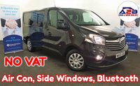 2015 VAUXHALL VIVARO 1.6 CDTI SPORTIVE BI TURBO 120 BHP in Black with NO VAT TO PAY, Air Conditioning, Side Windows, Bluetooth, Cruise Control, Ply Lined and more £10680.00