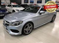 USED 2017 17 MERCEDES-BENZ C CLASS 2.1 C 220 D AMG LINE 2d 168 BHP AUTO CONVERTIBLE 2 YEAR FREE WARRANTY INCLUDED!