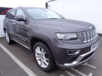 USED 2013 63 JEEP GRAND CHEROKEE 3.0 V6 CRD SUMMIT 5d 247 BHP AWD 4X4 4WD 20 Inc Alloys Electric Seats Full Black Leather Satalite Navigation Panoramic Roof Parking Sensors Privacy Glass Reverse Assist Camra