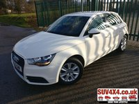 USED 2013 13 AUDI A1 1.6 SPORTBACK TDI SE 5d 105 BHP ALLOYS CRUISE CLIMATE  STUNNING WHITE MET WITH PART BLACK  TRIM. 17 INCH ALLOYS. COLOUR CODED TRIMS. BLUETOOTH PREP. AIR CON. R/CD PLAYER. MEDIA CONNECTIVITY. PAS. MFSW. MOT 07/20. SUV4X4 CAR CENTRE LS23 7FQ TEL 01937 849492 OPTION 2