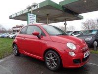 2013 FIAT 500 1.2 S 3d 69 BHP 4 SERVICE STAMPS £4295.00