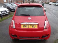USED 2013 13 FIAT 500 1.2 S 3d 69 BHP 4 SERVICE STAMPS