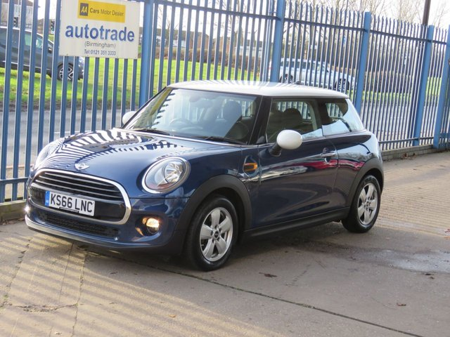 USED 2016 66 MINI HATCH COOPER 1.5 COOPER D 3dr Sat nav Bluetooth & audio Alloys DAB ULEZ COMPLIANT Ulez compliant Diesel,Zero Road Tax,Air Conditioning,History