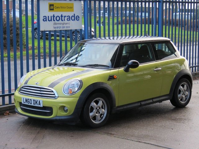 USED 2010 60 MINI HATCH COOPER 1.6 COOPER D 3dr Air con Alloys Electric windows Zero Tax & Great Fuel Economy