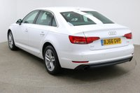 USED 2016 66 AUDI A4 2.0 TFSI SPORT 4d AUTO 188 BHP Finished in stunning Metallic Glacier White + 17 inch 5 parallel spoke alloys + black cloth interior + FRONT / REAR PARKING SENSORS + BLUETOOTH + DAB RADIO + IN CAR ENTERTAINMENT - CD / AUX / USB / SD + DUAL CLIMATE CONTROL + AIR CON + MULTI FUNCTION STEERING WHEEL + CRUISE CONTROL + ELECTRIC HEATED MIRRORS + ELECTRIC WINDOWS + AUTO LIGHTS / WIPERS.