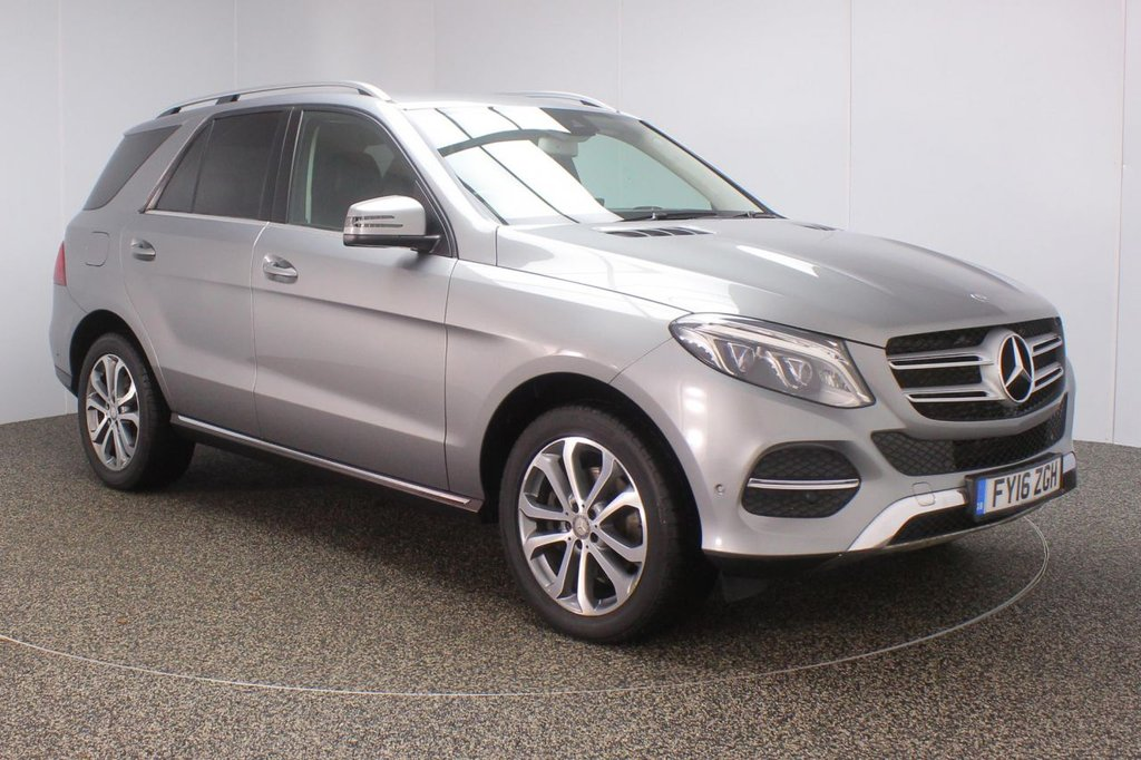USED 2016 16 MERCEDES-BENZ GLE-CLASS 2.1 GLE 250 D 4MATIC SPORT 5DR AUTO 201 BHP SAT NAV HEATED LEATHER FULL MERCEDES SERVICE HISTORY + HEATED LEATHER SEATS + SATELLITE NAVIGATION + ACTIVE PARK ASSIST + REVERSE CAMERA + BLUETOOTH + CRUISE CONTROL + CLIMATE CONTROL + MULTI FUNCTION WHEEL + DAB RADIO + PRIVACY GLASS + XENON HEADLIGHTS + ELECTRIC SEATS + ELECTRIC WINDOWS + ELECTRIC/HEATED DOOR MIRRORS + 19 INCH ALLOY WHEELS