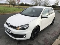 2012 VOLKSWAGEN GOLF 2.0 GTD TDI 170 BHP 5 DOOR WHITE HUGE SPEC FSH  £7494.00