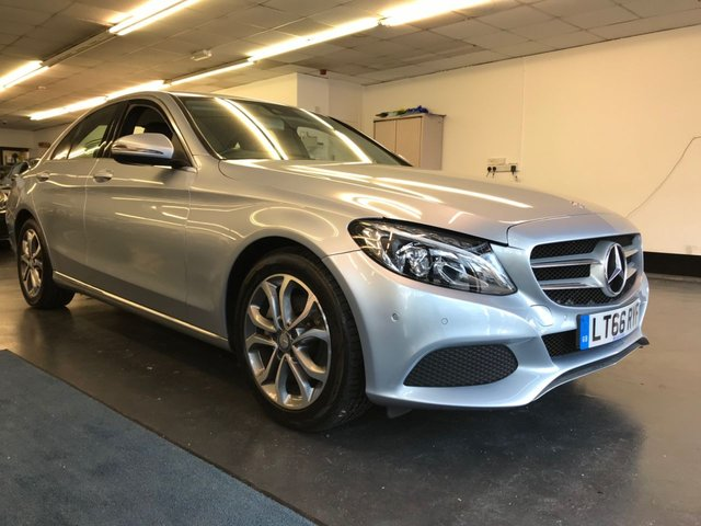 USED 2016 66 MERCEDES-BENZ C CLASS 2.1 C220 D SPORT 4d 170 BHP FULL MAIN DEALER SERVICE HISTORY, 1 OWNER FROM NEW, REAR CAMERA, FRONT AND REAR PARKING SENSORS, BLUETOOTH PHONE