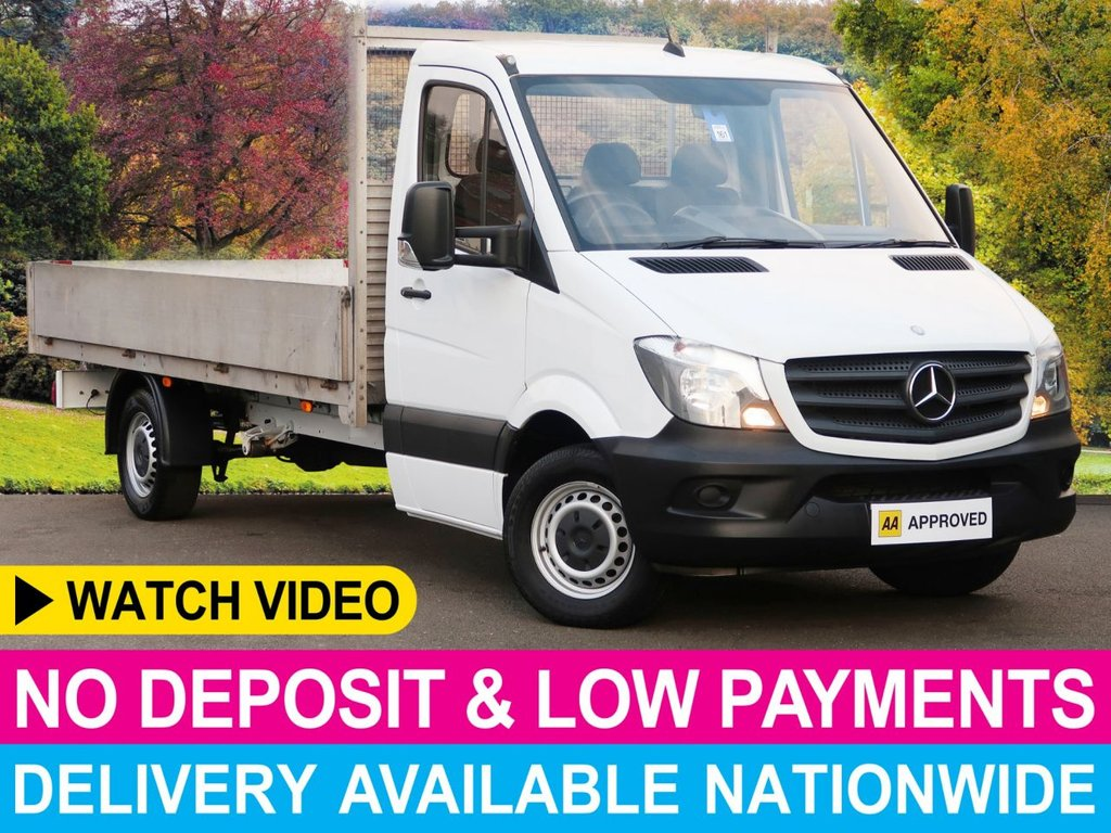 USED 2015 15 MERCEDES-BENZ SPRINTER 313 CDI 2.1 LWB DROPSIDE 3.5 TON GVW LONG ALUMINIUM DROPSIDE BODY