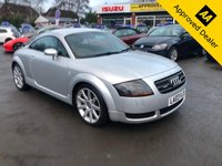 2003 AUDI TT 1.8 QUATTRO 3d 180 BHP IN METALLIC SILVER WITH 137000 MILES, FULL SERVICE HISTORY WITH A GREAT SPEC INCLUDING FULL LEATHER, THIS IS BEING SOLD AS A TRADE CLEARANCE   £1499.00