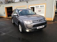 "USED 2013 62 MITSUBISHI OUTLANDER 2.3 DI-D GX 5 5d 147 BHP Leather Interior, Heated Seats,18"" Alloys, 7 Seats, Sat Nav, Bluetooth, Parking Sensors, Electric Sunroof"