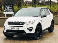 """USED 2017 66 LAND ROVER DISCOVERY SPORT 2.0 TD4 HSE BLACK 5d 180 BHP 7 SEATS AWD 20"""" Alloys, Reverse camera"""