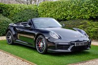 "USED 2016 66 PORSCHE 911 3.8 TURBO PDK 2d 532 BHP Just Serviced with Porsche Extended Warranty Purchase Equipped with a Twin-Turbo 3.8-litre Flat-Six Engine and a Seven-Speed Dual Clutch PDK Gearbox which will Propel this from 0-62mph in just 3.1 seconds and on to a Top Speed of 198mph. Black Full Leather Heated Adaptive Sports Seats+ Porsche Crest Embossed Headrests+Memory Function PCM-Satellite Navigation+Bluetooth Connectivity+Apple Carplay+BOSE Premium Sound+DAB Radio Automatic LED Adaptive Headlights+Power Wash 20 ""Turbo S Alloy Wheels"