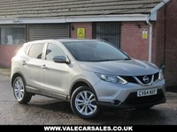 USED 2014 64 NISSAN QASHQAI 1.5 DCI ACENTA PREMIUM (1 OWNER+FULL NISSAN HISTORY) 5dr ONE OWNER FROM NEW + FULL NISSAN SERVICE HISTORY
